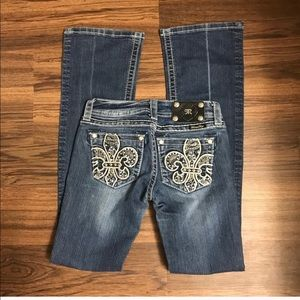 Miss Me Medium Wash Bootcut Jeans Size 25